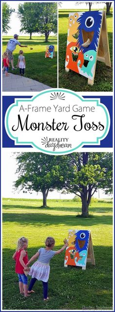 DIY A-Frame Yard Game 'Monster Toss' - Reality Daydream #outdoor #yardgames #entertaining