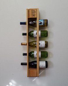 HOLIDAYSALE Real Walnut Wood Wall Mounted Wine by TheKnottyShelf ...