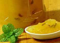 Geleia de Abacaxi e Hortelã (vegan)
