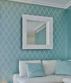 wall stencil to use on sheer white curtains for bedroom and livingroom