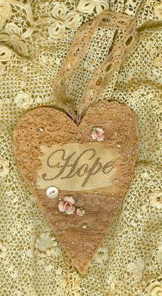 very cute fabric heart I Love Heart, Happy Heart, Lace Heart, Heart Art, Valentine Heart, Valentines, Heart Crafts, Heart Ornament, Felt Hearts