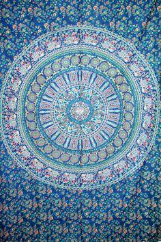 Indian Mandala Tapestry,Hippie Dorm Decor, Bohemian mandala Tapestry,elephant mandala tapestry,Cotton mandala Bed Cover,indian  Wall Hanging...