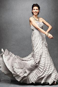 bhldn anthropologie 2011 pleated fantasy gown Quillaree @ http://weddinginspirasi.com/2011/03/01/bhldn-wedding-dresses-2011/