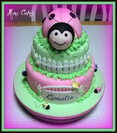 A lady bug cake done for a cute little lady turning one. Included a small smash cake to match. Happy Birthday Emalie! :)
