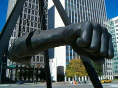 Always used to pass this on the way to the hospital and somehow it always made me feel all right. [Joe Louis, Detroit]