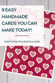 Learn how to make 9 easy handmade cards today with this fun beginner card tutorial! Card Making Ideas For Beginners, Card Making Tips, Card Making Tutorials, Card Making Techniques, Handmade Cards For Friends, Birthday Cards For Friends, Handmade Birthday Cards, Card Making Templates, One Sheet Wonder
