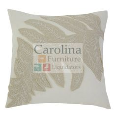 Leaf Pattern Accent Pillow  Turn over a new leaf. With its ultra-soothing earth tone, cotton cover and lovely layered embroidery that's a fresh nod to nature, this accent pillow from Signature Design is pure elegance.