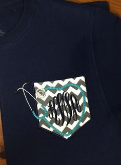 Monogrammed Pocket T-shirt for Nurses by TantrumEmbroidery on Etsy https://www.etsy.com/listing/187649156/monogrammed-pocket-t-shirt-for-nurses