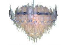 Chandelier (droomluchter) 'BAT' made by Heleen van Zantvoort Reuse, Chandelier, Ceiling Lights, Lamps, Van, Home Decor, Environment, Ideas, Lightbulbs