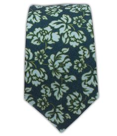 Serpentine Floral - Deep Green Teal (Wool Skinny) | Ties, Bow Ties, and Pocket Squares | The Tie Bar