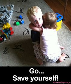 Even 2 year old girls have cooties.