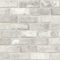 vtwonen Vliesbehang 3-baans - Bricks Lichtgrijs