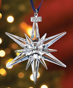 Swarovski Christmas Ornament - 2005 - year our daughter was born