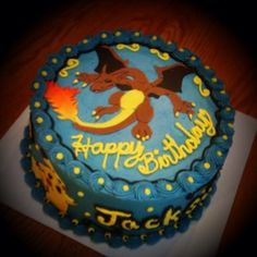 CHARIZARD STYLE CAKE