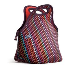 BUILT Gourmet Getaway Lunch Tote- I recommend this bag for your Bento's. Stretchy, cute, easy to carry on your commute.