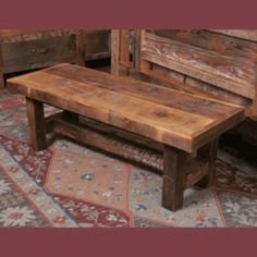 We offer this Wasatch Rustic Furniture -  Riverwoods Reclaimed Wood Bench and other fine rustic furniture and décor.