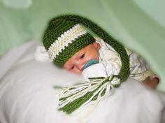 Baby Green Elf Cap