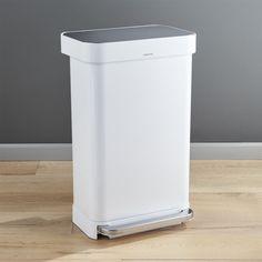 Free Shipping.  Shop simplehuman ® 45-liter/12-gallon White Rectangular Step Can.