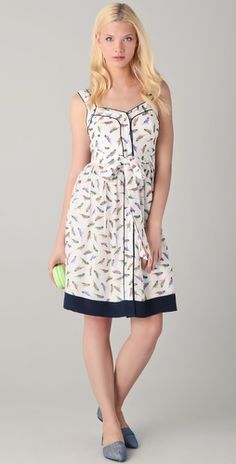 Milly Parakeet Print Jessica Dress