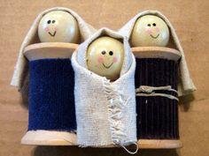 Spool Doll Nativity