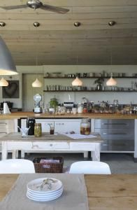 French country meets modern industrial ... and gets along fine.