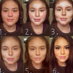 contouring and highlighting. cream and liquid contour/highlight is the best for photos