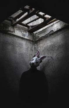 Eerie Creepy Surreal Uncanny Strange 不気味 Mystérieux Strano horror rabbit by Giorgia Cinelli Creepy Photography, Horror Photography, Dark Photography, Arte Horror, Horror Art, Creepy Art, Scary, Creepy Horror, Inspirer Les Gens