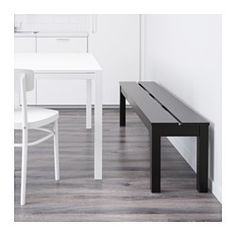 BJURSTA Bench, brown-black - IKEA