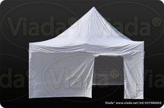 Carpa plegable de aluminio de 5x5 de color blanco profesional #carpa #carpaplegable #carpaplegablebarata viada.net/tienda/carpas-plegables