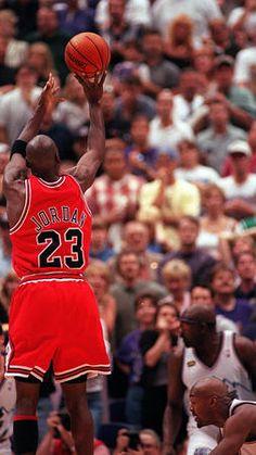 Michael Jordan deals a death blow in Utah.