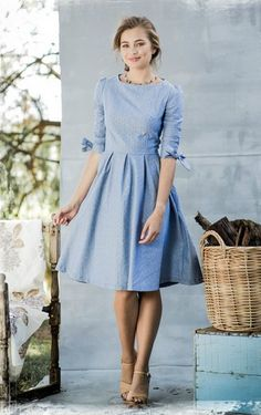 Chambray G'Day Dress | Shabby Apple