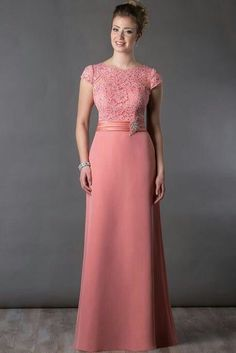 Scoop-neck Cap-sleeve long Jersey Dress With Appliques - Dress Afford Mother Of Groom Dresses, Mothers Dresses, Bride Groom Dress, Girls Formal Dresses, Elegant Dresses, Wedding Dresses, Evening Dresses Online, Evening Gowns, Winter Gowns