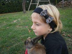 bandeau cheveux bébé enfant Noeud léopard / bandeau noir léopard fillette petite fille : Mode Bébé par maluciole