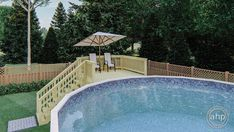 Above Ground Pool Stairs, Rectangle Above Ground Pool, Small Above Ground Pool, Above Ground Swimming Pools, Swimming Pools Backyard, In Ground Pools, Backyard Pool Landscaping, Backyard Pool Designs, Decks Around Pools
