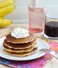 Macadamia Nut Pancakes with Homemade Coconut Syrup