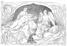 """Urðr (Old Norse """"fate"""") is one of the Norns in Norse mythology. Along with Verðandi (possibly """"happening"""" or """"present"""") and Skuld (possibly """"debt"""" or """"future""""), Urðr makes up a trio of Norns that are described as deciding the fates of people.  Urðr is together with the Norns located at the well Urðarbrunnr beneath the world ash tree Yggdrasil of Asgard. They spin threads of life, cut marks in the pole figures and measure people's destinies, which shows the fate of all human beings and gods."""