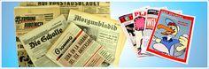 Lustige Geburtstagszeitung und originale historische Zeitung