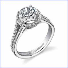 Gregorio 18K WG Diamond Engagement Ring R-469-1