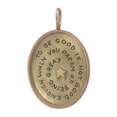 "HEATHER B. MOORE YELLOW GOLD OVAL/ROSE GOLD FRAME """"TO BE GOOD..."""" CHARM"