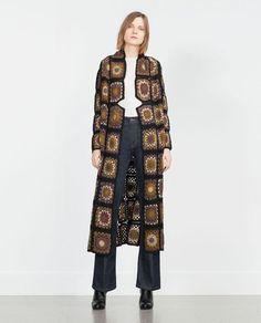 Boho patchwork crochet cardigan