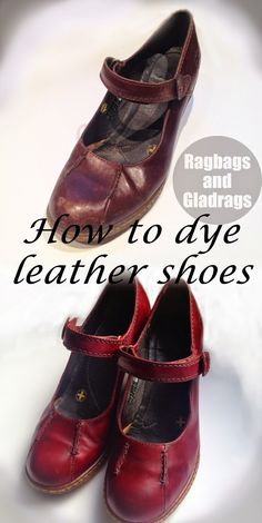 f5b0fb15d6752d ragbags and gladrags - Made by the Sea  Dying for a new lease of life - how  to dye leather shoes.