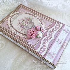 Romantic chocolate box in dusty rose tones