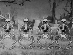 The bizarre skeleton dance 1929 disney short - YouTube