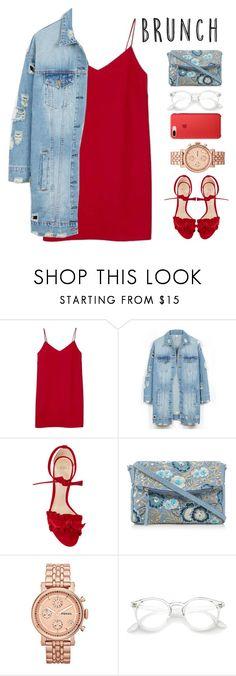 """""""Untitled #379"""" by totalfashiongirl on Polyvore featuring Alexia Ulibarri, LE3NO, Alexandre Birman, Mantaray and FOSSIL"""