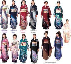 kimono prenda exterior japonesa usada desde el siglo XVII utilizada en festivales religiosos o en el año nuevo