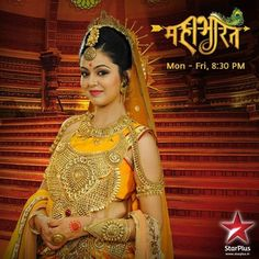 "Kunti from Star Plus ""Mahabharat."" Kunti was the mother (and step-mother) of the five Pandav brothers, including Arjun."
