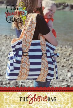 This would make such a cute diaper bag @Candace Beeghly~tiny seamstress designs: The Shore Bag