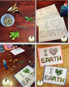 """Free Earth Day Nature Activity & Craft There are so many cute crafts you can make with your kids for Earth Day. I love doing this """"I Heart Earth"""" nature activity because it is a good opportunity to get kids out in nature exploring but you also end up with a cute craft! Click the pictures above or click HERE to read all about the activity and get the free template! Earth Day earth day activities Lauren Thompson Mrs. Thompson's Treasures nature walk"""