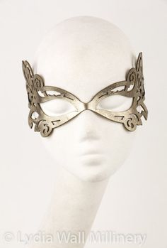 Leather Mask in Gold by LydiaWallMillinery on Etsy
