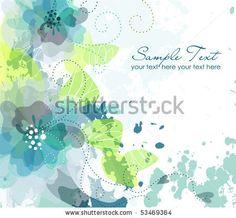 Artistic flower background - stock vector